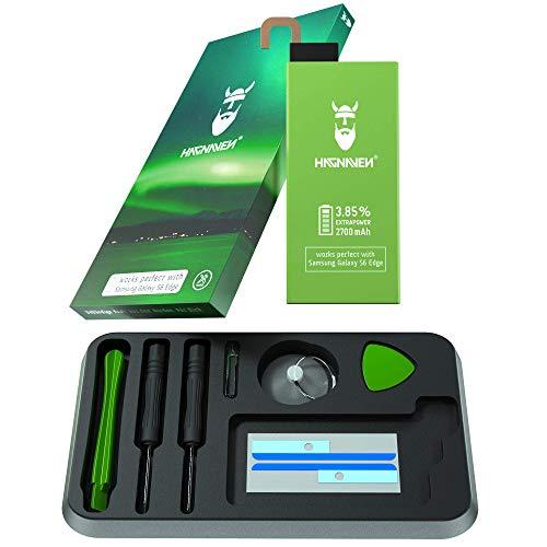 Batería Hagnaven® Li-polímero para Samsung Galaxy S6 Edge SM-G925F | Batería de Repuesto & Herramientas | Sustituye EB-BG925ABE | 2700 mAh | Celdas Mayor AUTONOMÍA