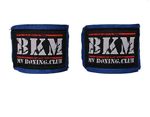 Profi-Kampfsport Boxbandagen Set je 5m lang elastisch mit Daumenschlaufe für Herren und Damen - Hand-Bandagen zum Boxen, Muay-Thai, Kick-Box