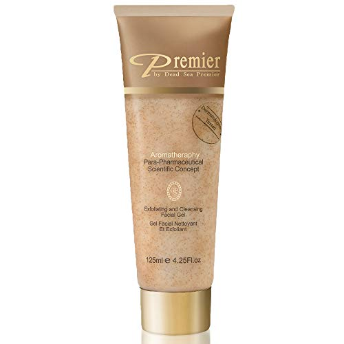 Premier Dead Sea Classic Para-pharmaceutical Exfoliating Face Cleanser Gel scrub Contains Dead Sea Minerals,natural grains, non drying, Dermatologist Tested anti aging Skin Care, 4.2fl oz