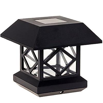 GreenLighting Outdoor Summit Solar Post Cap Light for Wood Posts 2 Pack