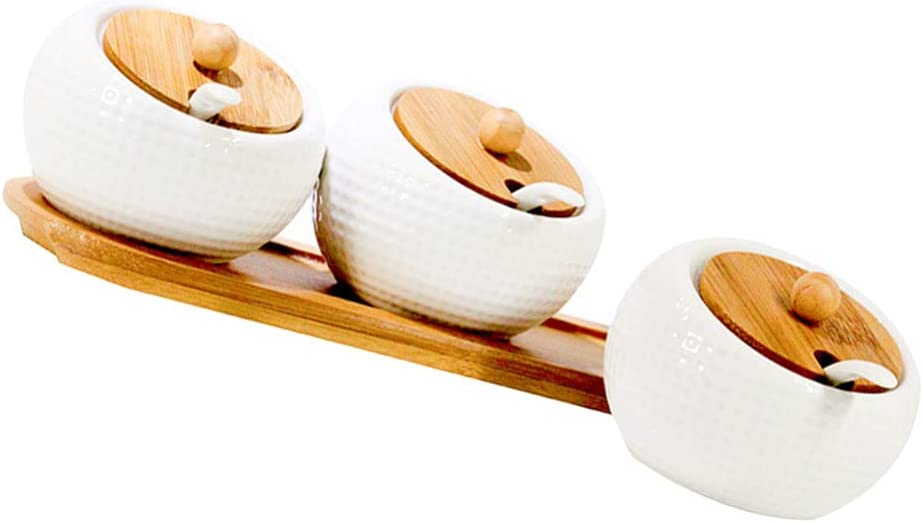Cabilock 1 Set Ceramic NEW Condiment Our shop OFFers the best service Jar Spice with C Lids Container