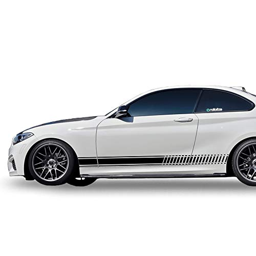 Bubbles Designs Decal Sticker Vinyl Side Racing Stripes Compatible with BMW 2 Series F22,/23,M2