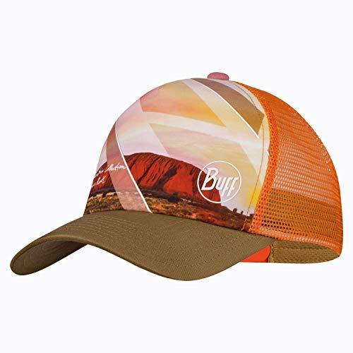 Buff Set Trucker Cap + UP Schlauchschal Damen & Herren   Snapback Cap Mesh   UV Sportkappe   atmungsaktive Mütze mit geradem Schirm   Caps for Men Women   Ayers Camel - 122601.337.10.00