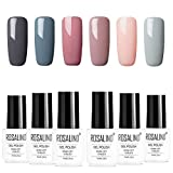 ROSALIDN esmalte semi-permanente para uñas kit, 6pcs/lot