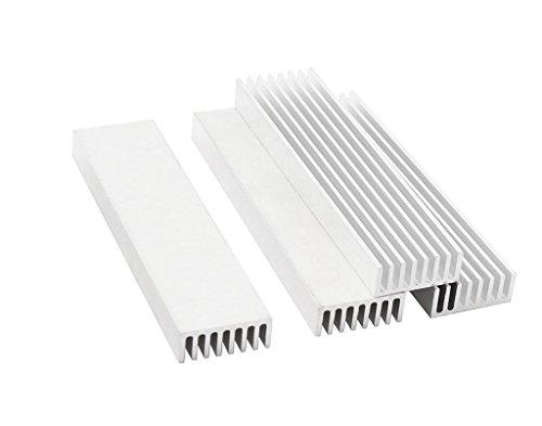OdiySurveil (TM) 4-Pack 100 x 25 x 10MM Aluminium Comb Heat Diffusion Cooling Fin Heatsink