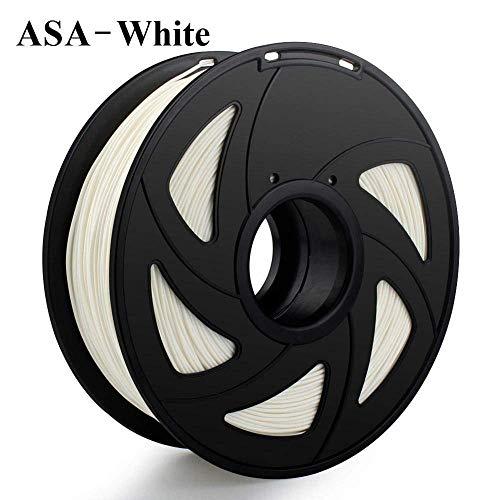 3D Printer Filament 1.75mm 1KG PLA ABS Nylon Wood TPU PETG Carbon ASA PC 3D Plastic Printing Filament toughness (Color : Nylon White) JIAJIAFUDR (Color : Asa White)