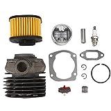 Kit de cilindro de motosierra de aleación de zinc, limpiador de filtro de aire, junta de bujía, piezas de repuesto para Husqvarna 362365371372 372XP H372