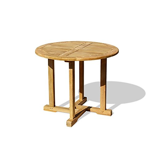 Jati Sissinghurst Round Circular Garden Table (0.8m) Brand, Quality & Value