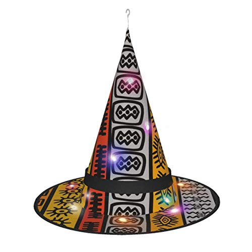 leyhjai Tanque UFO Brillante Camuflaje Militar Led Brillante Navidad Halloween Sombrero de Bruja para Fiesta Disfraz Cosplay Traje Acceso