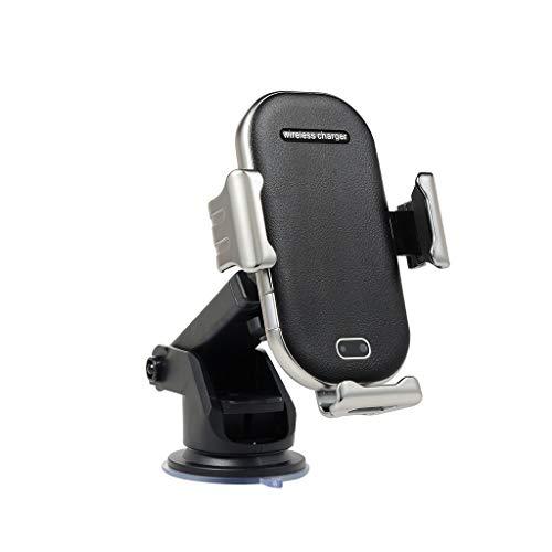 Skryo🛩🛩 QI Wireless Charging Autoladegerät Automatische Induktion Auto Air Vent Telefonhalter (Silber)