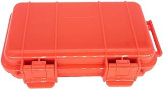shunxinersty耐衝撃オーガナイザー 19 センチ防水耐衝撃プラスチック シール ツール ボックス収納ケース、 EDC ツール オレンジ