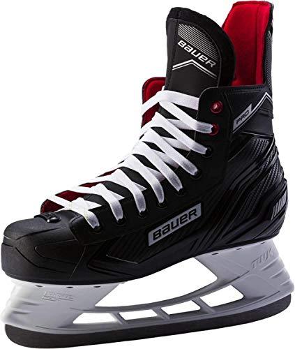 Bauer Jungen Pro Skate Feldhockeyschuhe, Schwarz (Schwarz-Weiss-Rot-SI 900), 33.5 EU