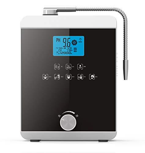 XSGDMN Ioniseur d'eau alcaline, jusqu'à -800mV ORP, PH 3-11 l'eau alcaline Acide Machine, Filtre à Eau Accueil alcaline, 8000 litres d'eau par Filtre, Nettoyage Automatique
