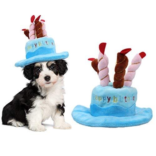 TickTocking Sombrero de cumpleaños para Mascota, Lindo Sombrero de cumpleaños para Perro...