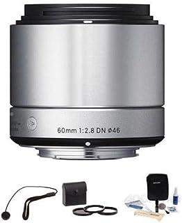 """Sigma 60mm f / 2.8DNアートレンズfor Sony・EマウントNEXカメラ、シルバー、""""バンドル"""""""
