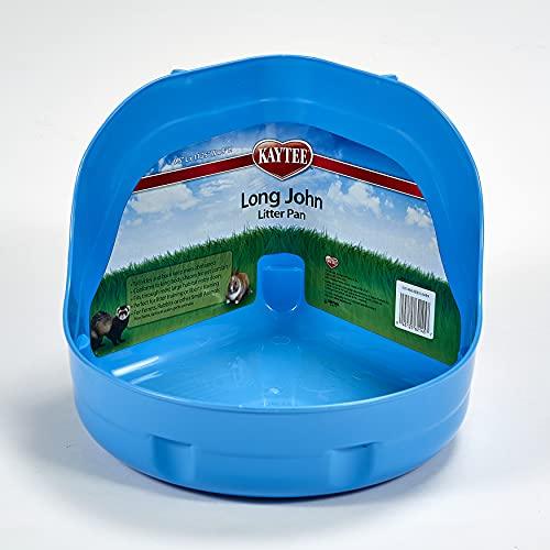 Super Pet Long John Bac à litière avec côté haut pour lapin et furet- Coloris aléatoire