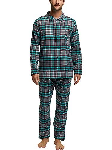 ESPRIT Flanell-Pyjama aus 100{d49445a441feeb7d9f96a58c09bbbb8ca7b734db420212b619ffb7d82af26fb1} Organic Cotton