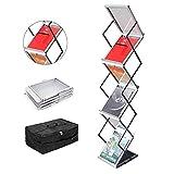 GUOHONG A4 espositore per brochure, pieghevole in alluminio portatile Exhibition letteratu...