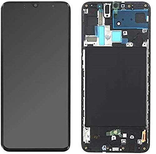 SPES Original Amoled Display Bildschirm Touchscreen in Schwarz für Samsung Galaxy A70 A705F - GH82-19747A mit Werkzeug