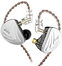 KZ AS16 16 Units Earbuds Balanced Armature Headphones Noise Reduction Extra Bass Sports in Ear Earphone (No Mic, Black)