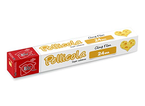 CONTITAL Pellicola per alimenti con astuccio, rotolino PVC, larghezza 30 cm, 24 metri