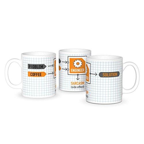 getDigital Problem Engineer Solution Kaffeebecher - Lustige Büro Tasse für Ingenieure, Wissenschaftler & Nerds - Keramik 300 ml Becher