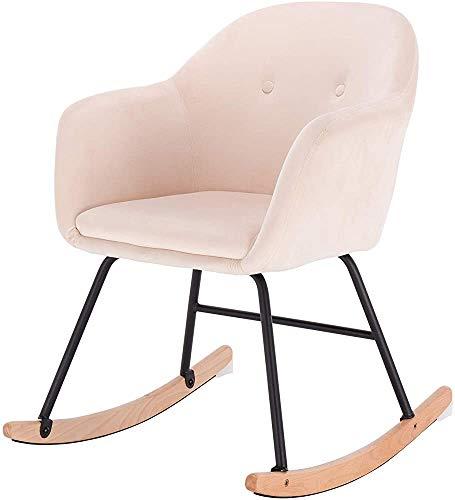 Solárium al aire libre sillas de jardín mecedoras crema salón silla sillón mecedora sillón retro informal,Cream