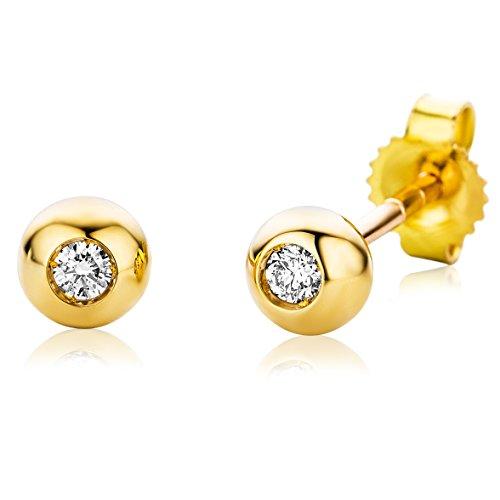Miore Orecchini da donna con diamante 0,06 ct in oro giallo/bianco 18k 750/1000 (Oro bianco)