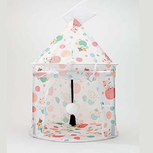 PPuujia Juguete para gatos Suministros para mascotas Juguetes para gatos Túnel de gato plegable Túnel para gatos Dragón tierra Primavera y Verano Cama para gatos Túnel para gatos (Color: 4)