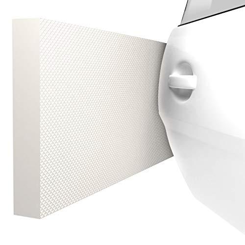 ATHLON TOOLS 4x MaxProtect Protectores de pared autoadhesivos para garaje, protección contra impactos (40 x 20 x 2cm, cada uno) (Blanco)