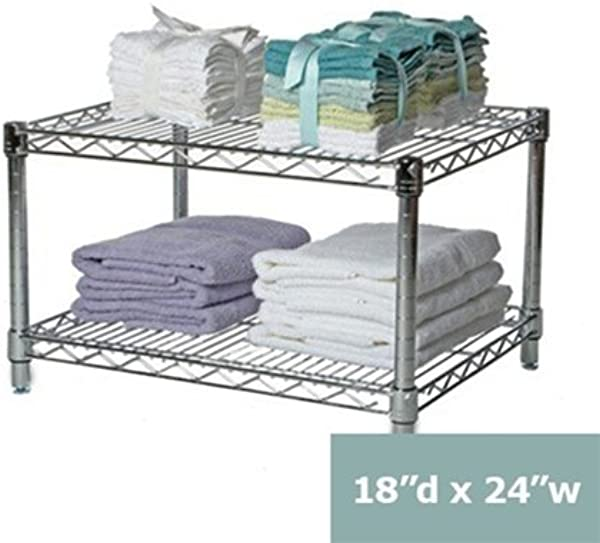 18 D X 24 W Chrome Wire Shelving With 2 Shelves