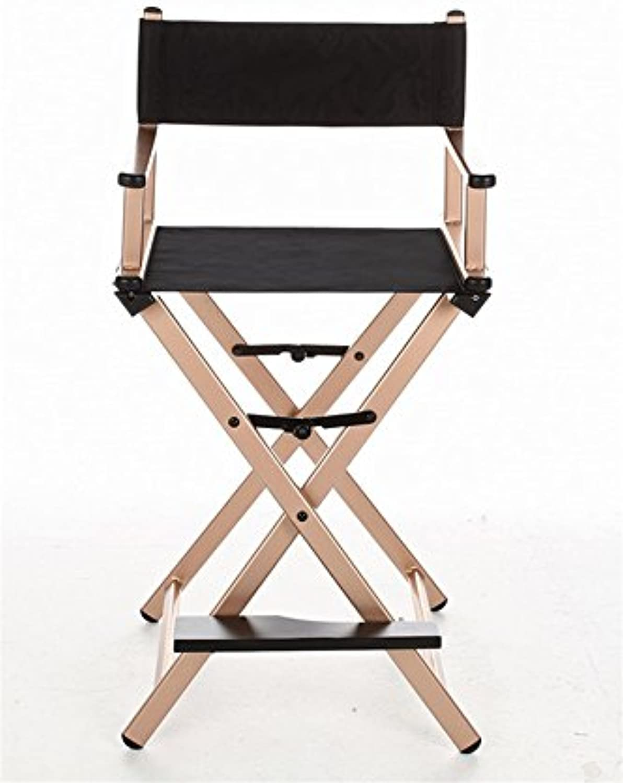Lightweight Chair Portable Director Chair Aluminum Frame Black Canvas Outdoor Furniture Folding Chair Indoor Makeup