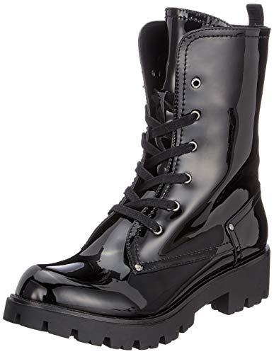 Buffalo Damen Skylight PU Shiny Combat Boots, Schwarz (Black 01 00), 38 EU