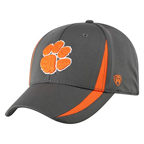 Top of the World Clemson Tigers Men's Performance Fitted Charcoal Icon hat, One Fit