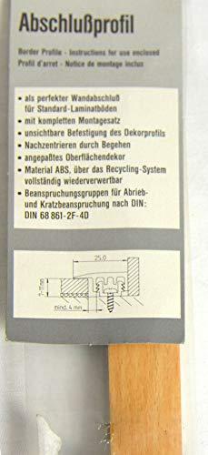 Abschlußprofil Buche für Laminat 7-11 mm mit UP 25mm