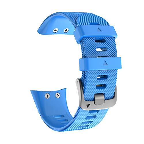 NotoCity Correa para Garmin Forerunner 45/45S, Banda de Reemplazo de Silicona, Correa de Reloj Compatible con Garmin Forerunner 45/45S, Colores múltiples (F45S, Azul)