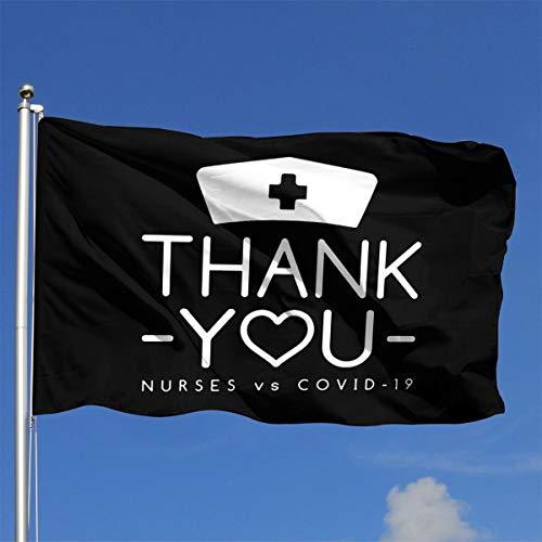 American Flag by U.S. Veterans Owned Thank You Nurses - Nurses Vs Corona-Virus Military Flag Vintage Flag 4x6 Ft