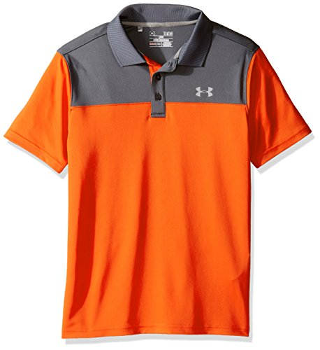 Under Armour Jungen Performance Blocked Polo, Jungen, 1290343, dunkelorange, XL