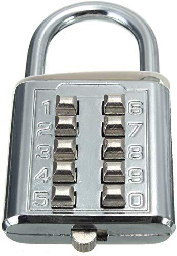 数字の南京錠、数字の組み合わせロックプッシュボタンの防錆と耐候性の組み合わせロック南京錠、ジムやスポーツのロッカー、ケース、ツールボックス、フェンス、ハスプキャビネットとストレージ (10桁)