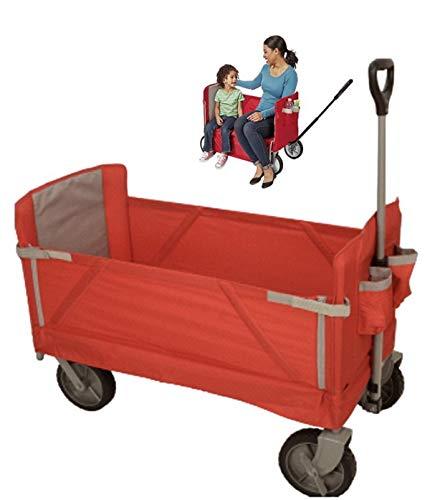 キャリーワゴン FWB-007 折り畳み キャリーカート マルチキャリー ハンドキャリー アウトドア 折りたたみ レジャー キャンプ コンパクト マルチキャリーカート ショッピングカート 台車 簡易椅子 便利ワゴン