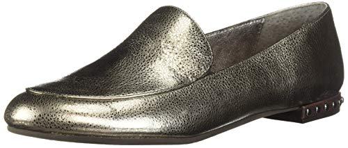 Adrianna Papell Women's Britt Moccasin, Gunmetal Spiga Leather, 6 M US