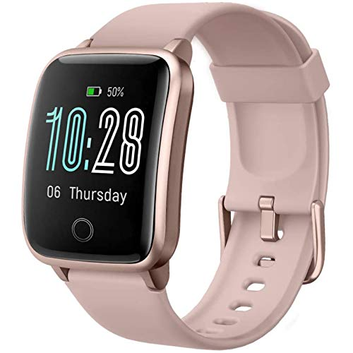 Lintelek Smart Watch for Android & iOS, Fitness Tracker with Heart Rate Monitor, Smartwatch with Step Counter, Sleep Monitor, Calorie Counter, Stop Watch, Fitness Watch for Women Men