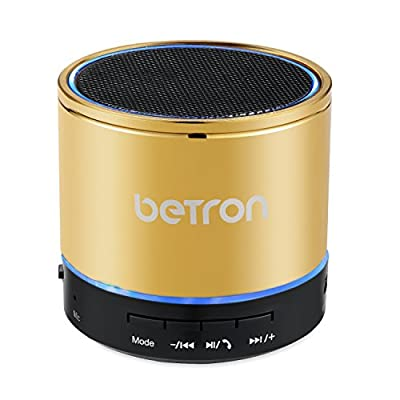 Betron KBS08 Wireless Portable Travel Bluetooth Speaker (Gold) by Betron