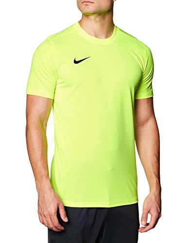 NIKE M Nk Dry Park VII JSY SS Camiseta de Manga Corta, Hombre, Amarillo (Volt/Black), S