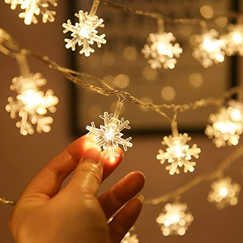 N-brand Christmas Led Snowflake Light String Indoor Outdoor Waterproof Battery USB Power Supply Holiday Decoration Christmas Lights Warm White, Pure White, Color