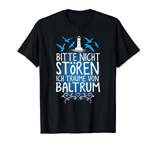 Baltrum Nordseeinsel Nordsee Urlaub Insel Möwe Meer T-Shirt