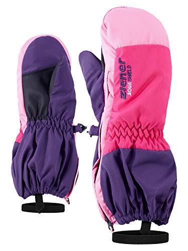 Ziener Baby LEVI AS MINIS glove Ski-handschuhe / Wintersport | wasserdicht, atmungsaktiv, violett (dark purple), 86cm