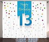 ABAKUHAUS Bunt Rustikaler Gardine, Bunte Konfetti, Schlafzimmer Kräuselband Vorhang mit Schlaufen und Haken, 280 x 260 cm, Mehrfarbig