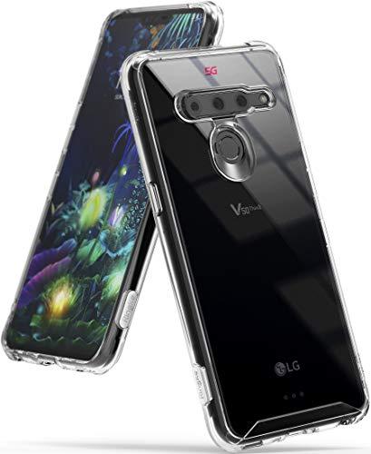 Ringke Fusion Compatible con Funda LG V50 ThinQ 5G Transparente PC Cubierta Protectora TPU Protección Cover Funda LG V50 ThinQ (2019) - Claro