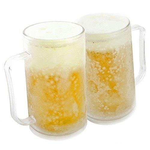 Taza de cerveza para congelar: Taza de helado Taza de helado Taza de helado Taza de enfriamiento Taza de 0,4 litros de 400 ml con paquete de hielo